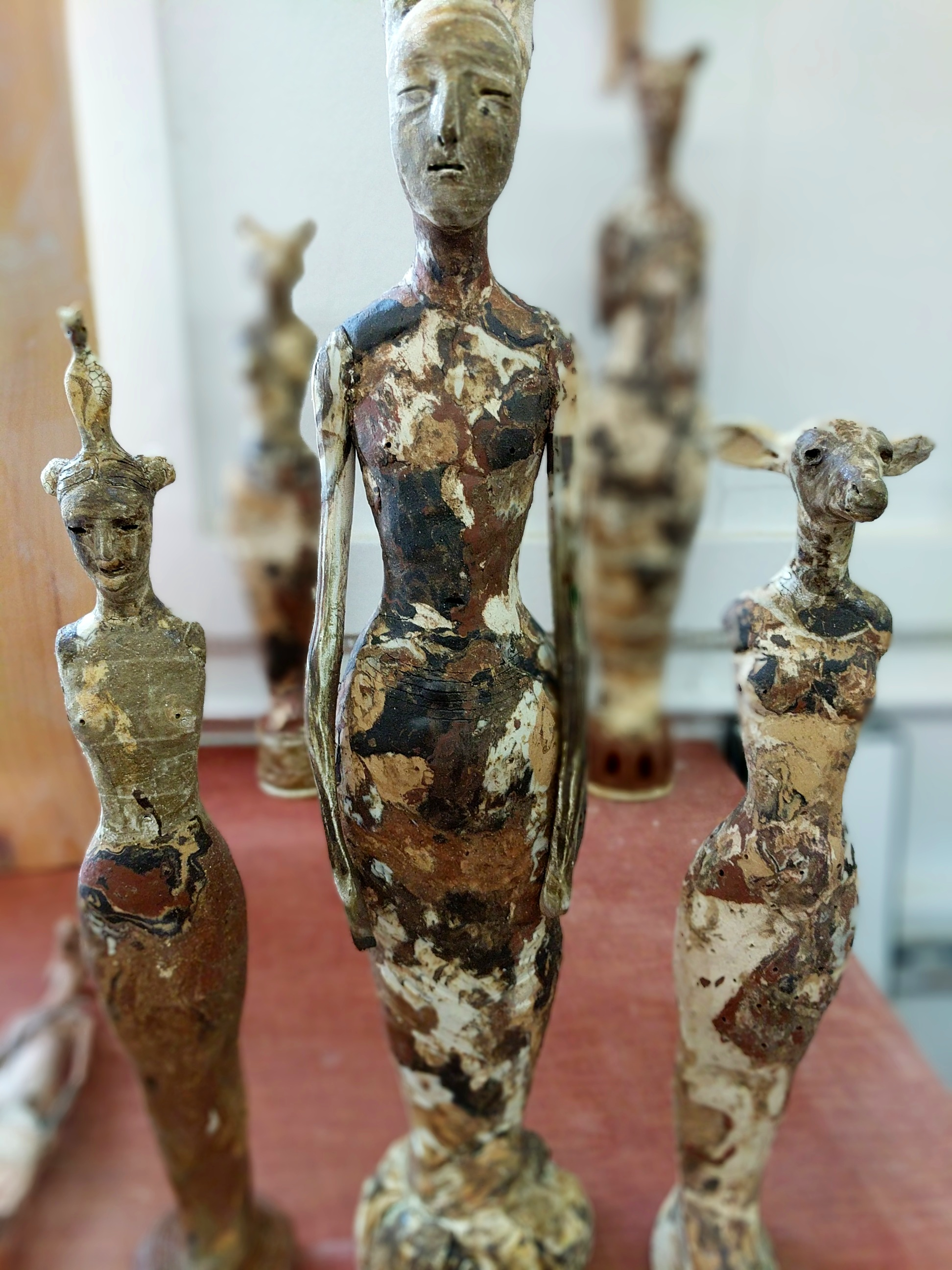 A herd of marbled totems