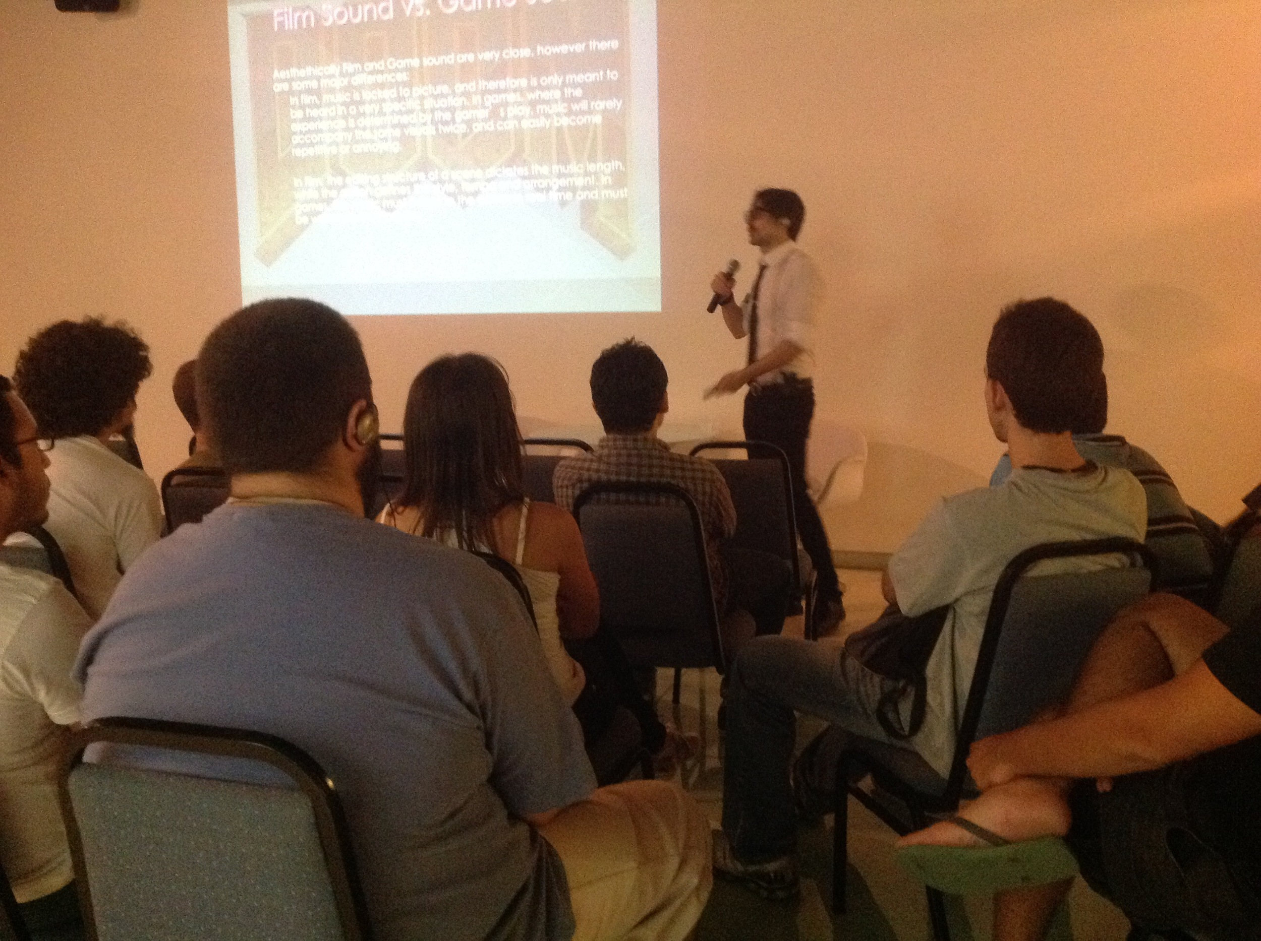 Lecturing on Game Audio in Brazil