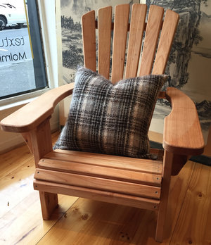 Adirondack Chair Oiled   Locally designed and made.  Price: $395 Single, $750 Pair.