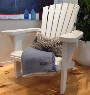 Adirondack Chair Painted   Locally designed and made.  Price: $495 Single, $950 Pair.