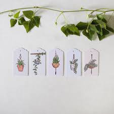 Ten hand illustrated swing tags featuring five unique hanging basket designs (two of each design per pack).