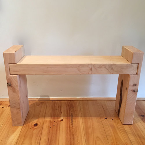 English Bench   Locally made from local Cyprus wood.  Each piece is an individual piece. We can make to your specifications  Size in store: 50cm(h) x 80cm(l) x 20cm(d)  $295.00