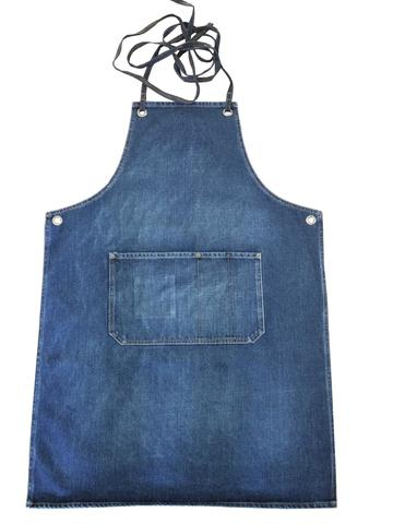 Indigo Denim Cafe Style Apron - $69.95   A stylish and robust indigo denim apron with cross back straps for super comfortable all day wear.  Great for baristas, florists, chefs and wineries or for home use.   100% Cotton indigo denim  (Body length is approx 87cm from top to hem and 62cm across widest part-not including straps)