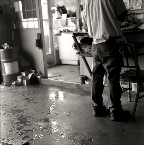 Dad at his shop