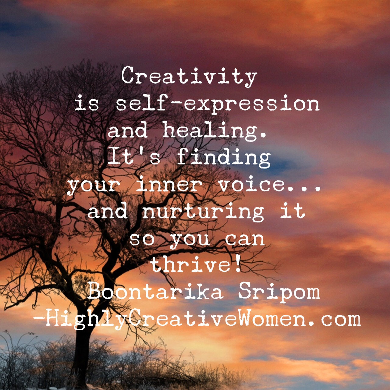 Creativity is self-expression and healing