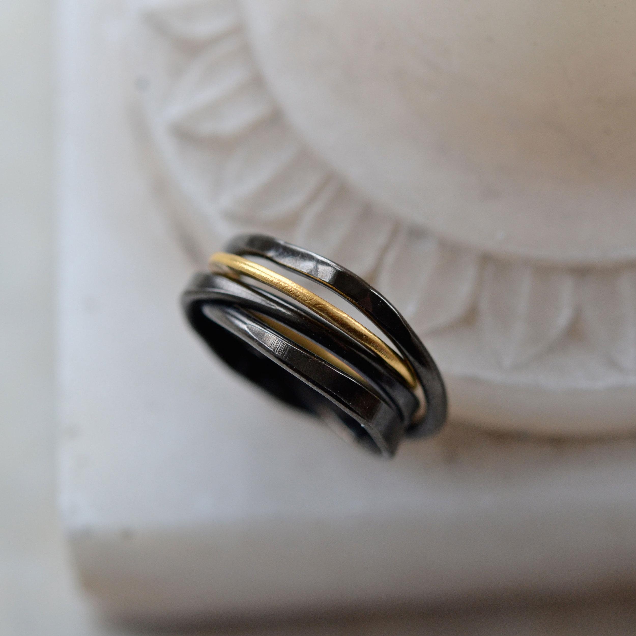 RUTHENIUM & GOLD RING