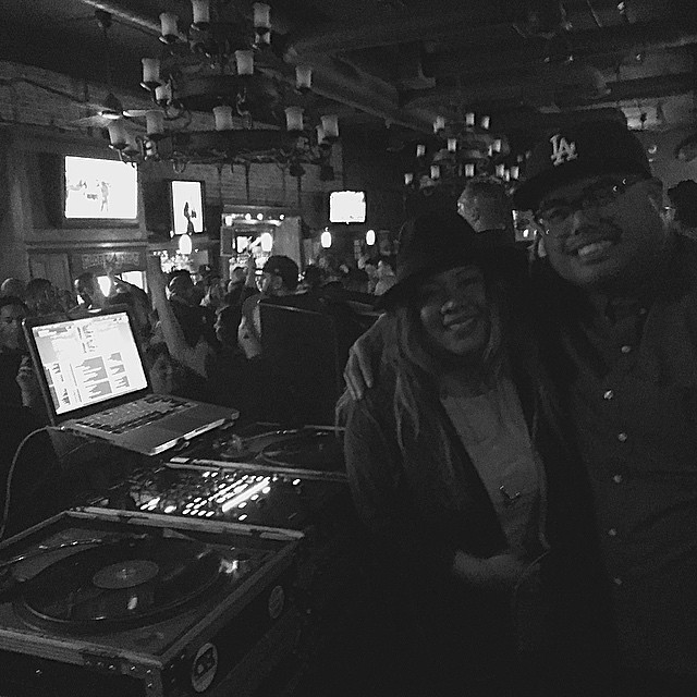 What a great weekend in #OC! Fun times rockin at @florentines_dtf w/ my fam @roial1 @thecbcollective and @darkmarc on the mic. (Photo Cred: @roial1) #downtownfullerton #fullerton #namm2015
