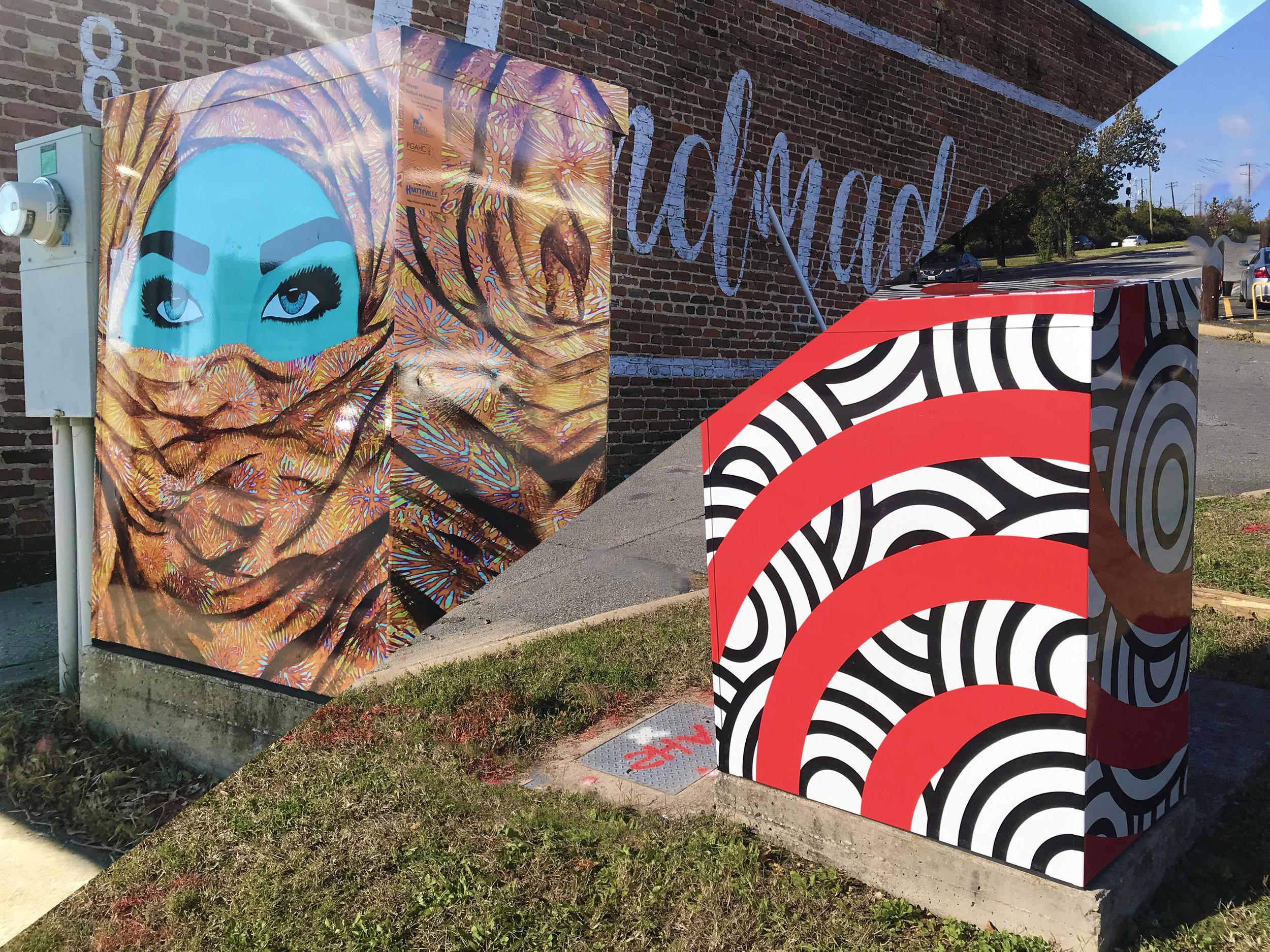Installed in Hyattsville, MD   Traffic Box Art Wraps    Learn More