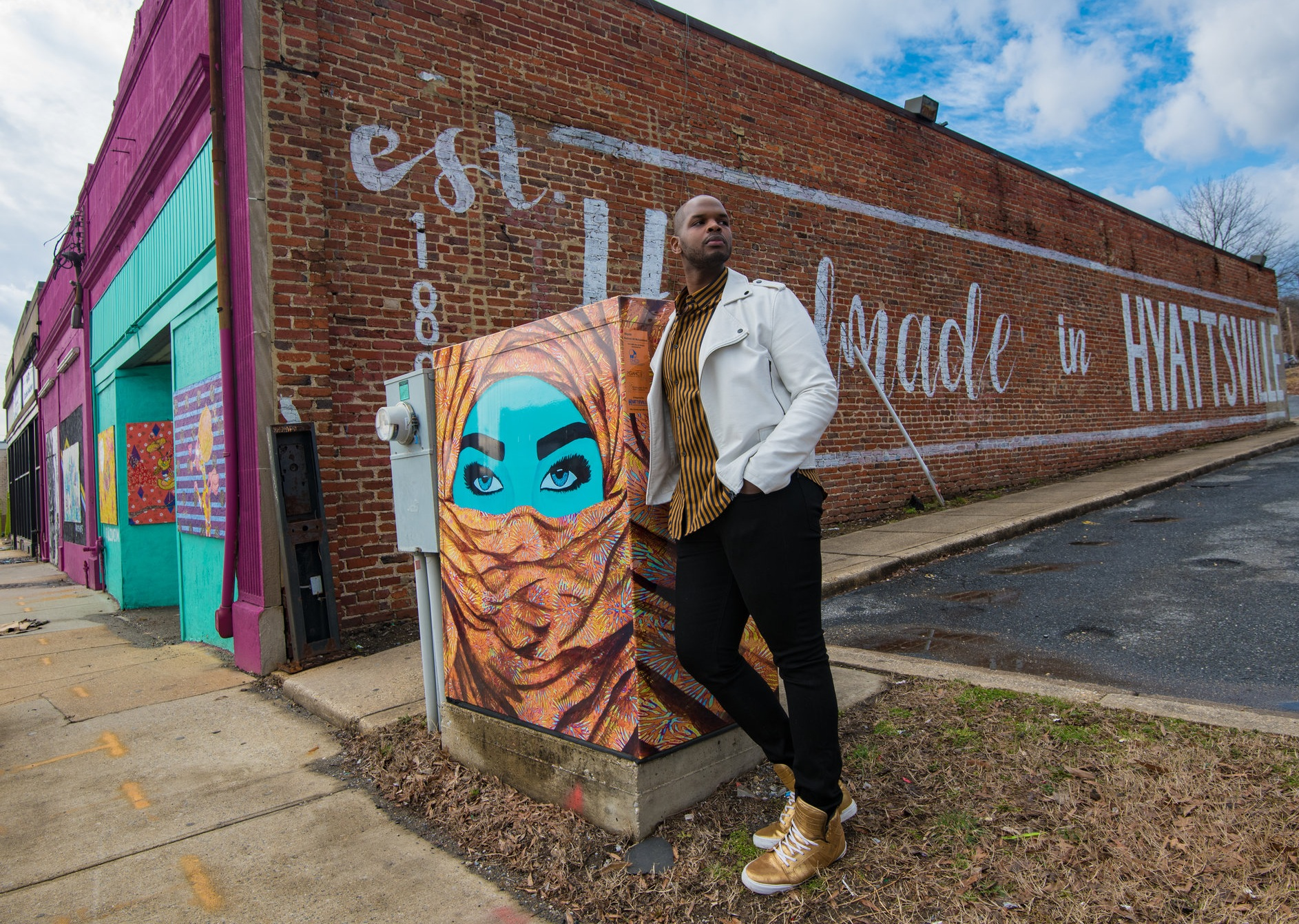rashad-ali-muhammad-maryland-artist-hyattsvile-traffic-box-art