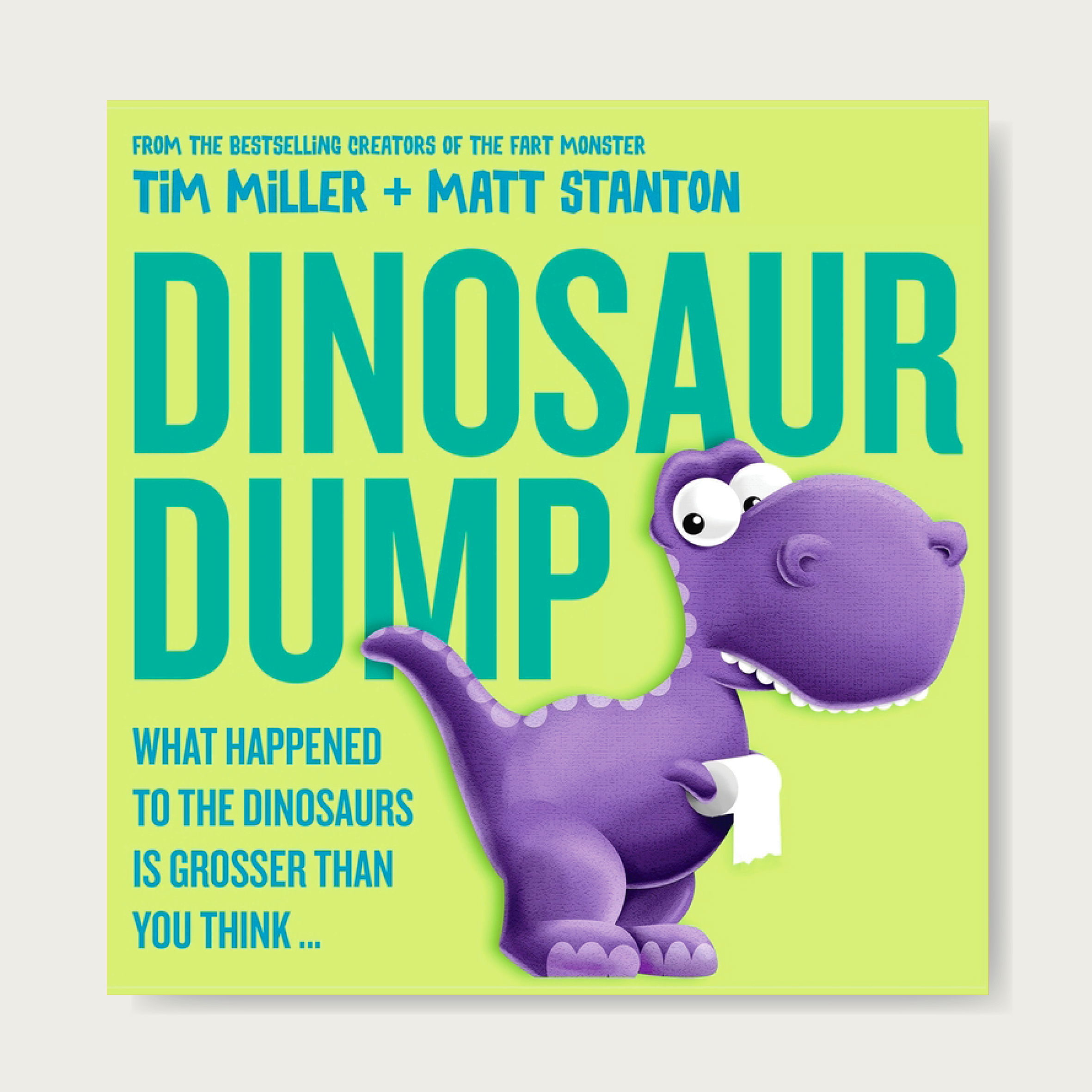 The new bestseller from the creators of the Fart Monster!    Straight from the prehistoric era comes an ex-STINK-tion story like no other! Life's hard when there's only one toilet and all the dinos need to go! There's a dumping pterodactyl, a plopping stegosaurus and a T. rex who can't reach to wipe ... But when it's finally Mike's turn, could one tiny bowel movement end in disaster? Ages: 2+