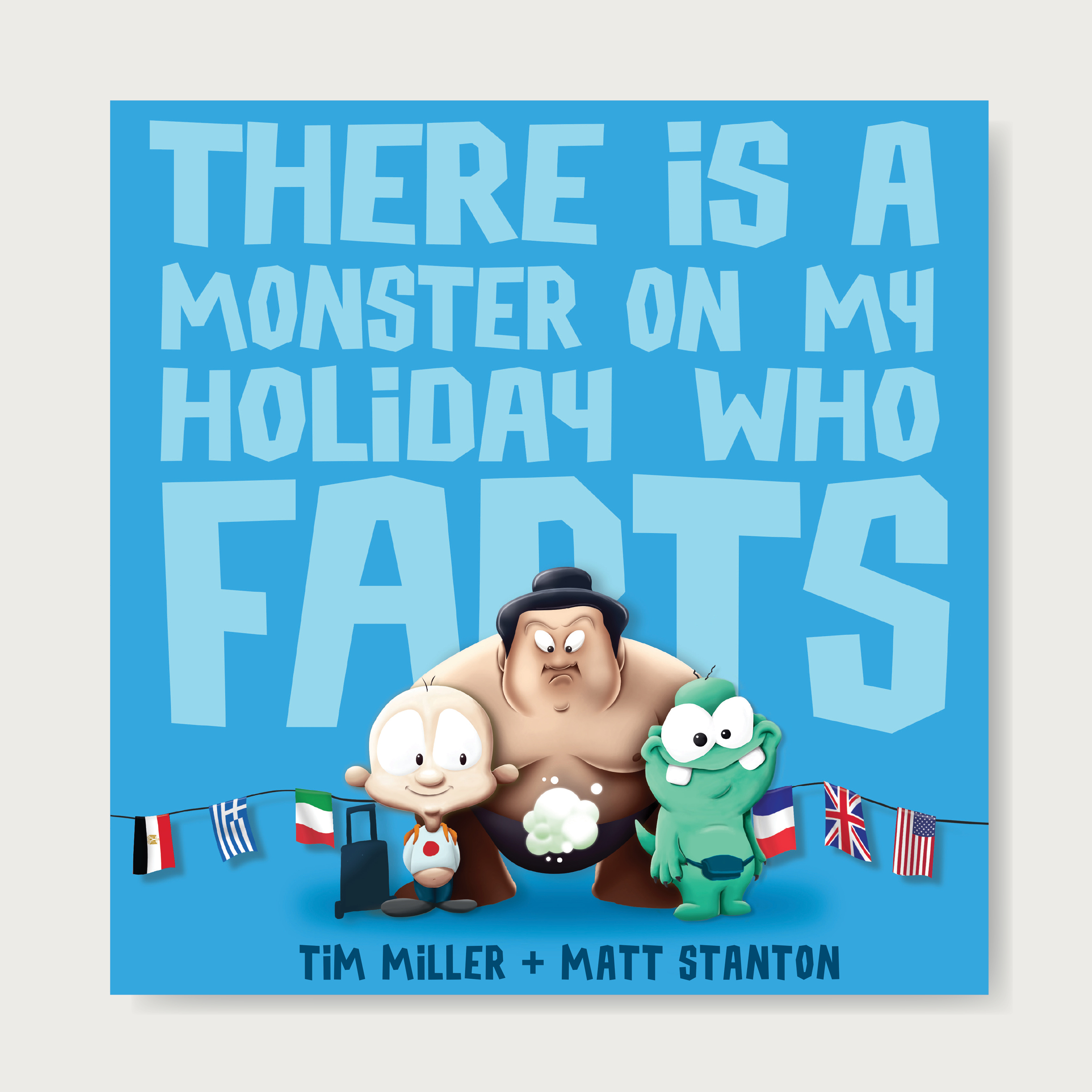 The Fart Monster is back! And he's gone global! Get your passports ready; we're about to go around the world in 80 farts ...  Ever wondered what could remove that smile from the Mona Lisa's face? What could force the Buckingham Palace guards to run for their lives? What mighty gust of wind could finally make the Leaning Tower of Pisa fall? All will be revealed in THERE IS A MONSTER ON MY HOLIDAY WHO FARTS ...  Ages: 2-5