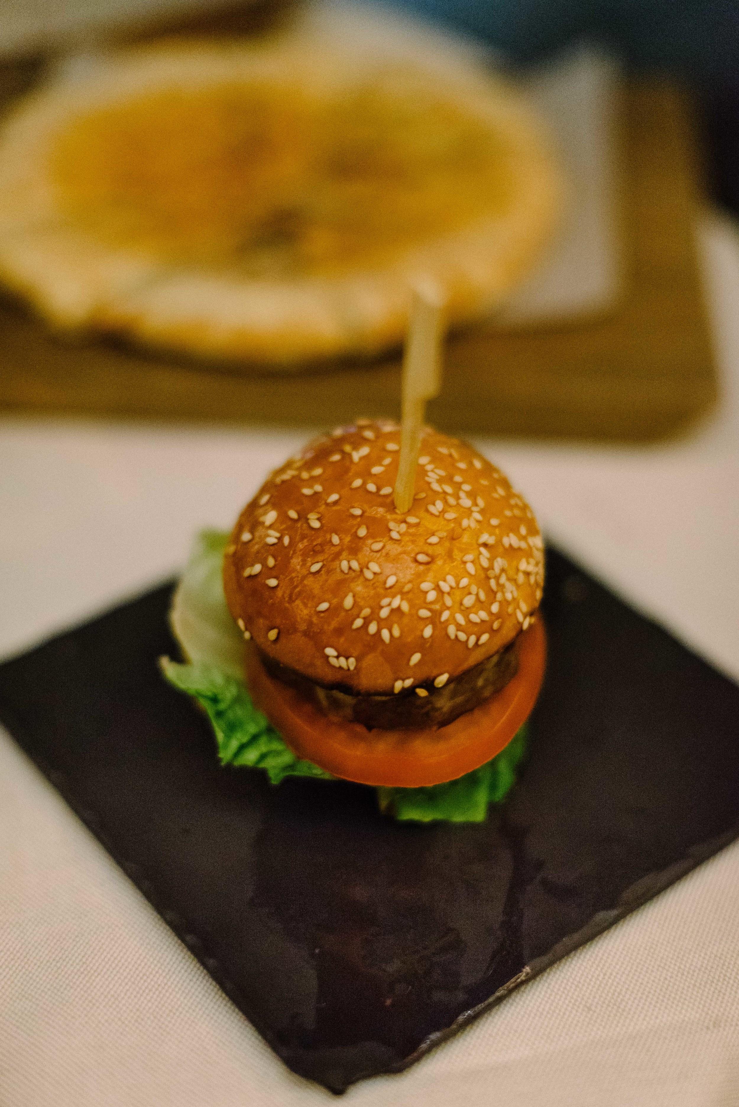 The incredibly tasty black angus mini burger (we had one each)