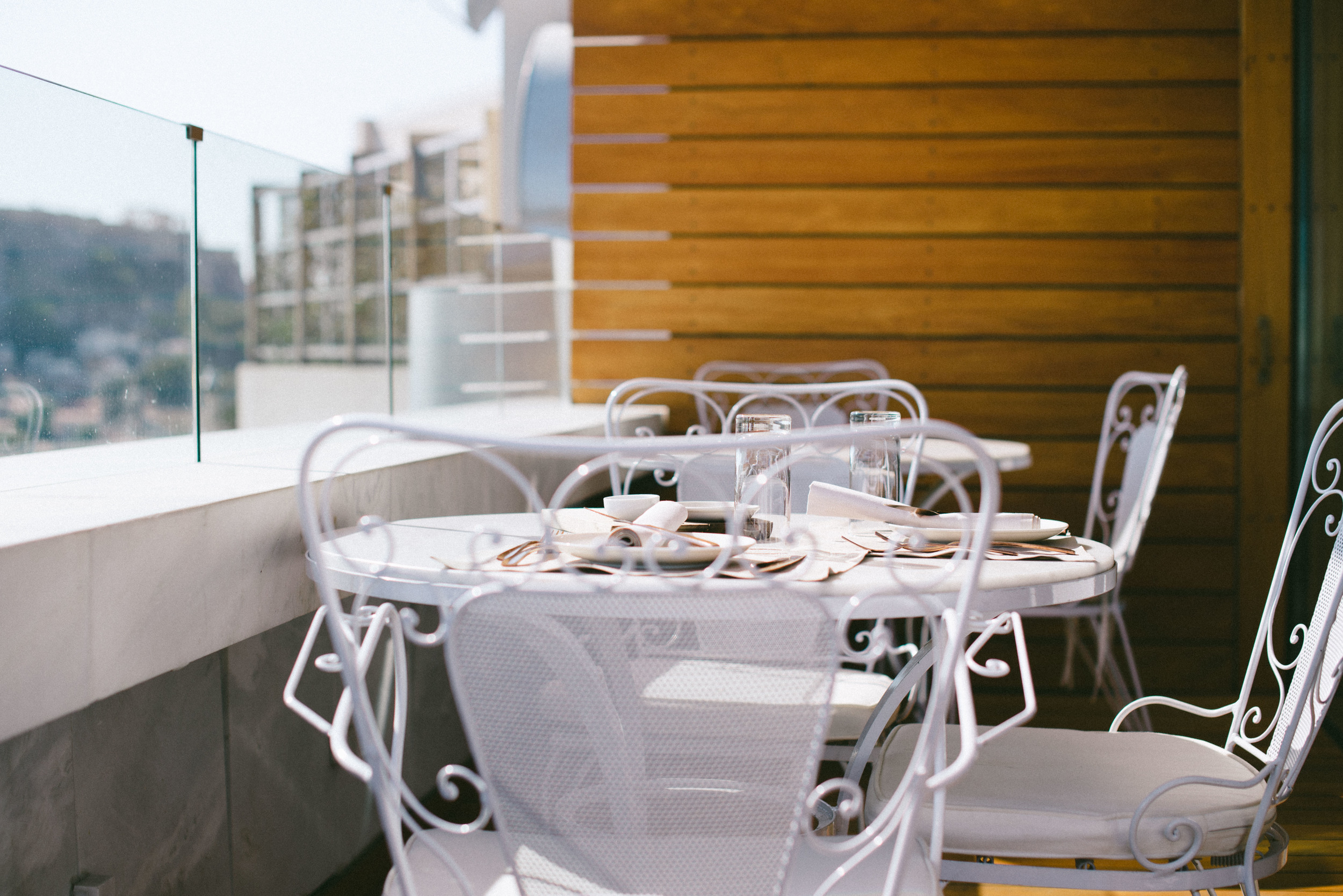 Enjoy lunch or a cold drink at the terrace of the Art Lounge restaurant