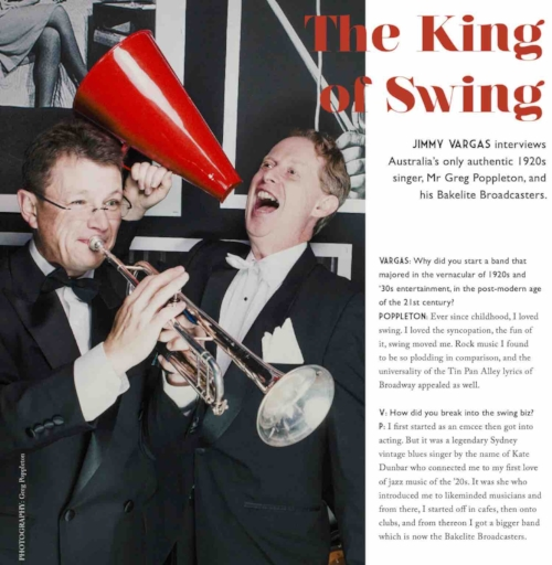 Two page interview in vintage magazine, Glory Days