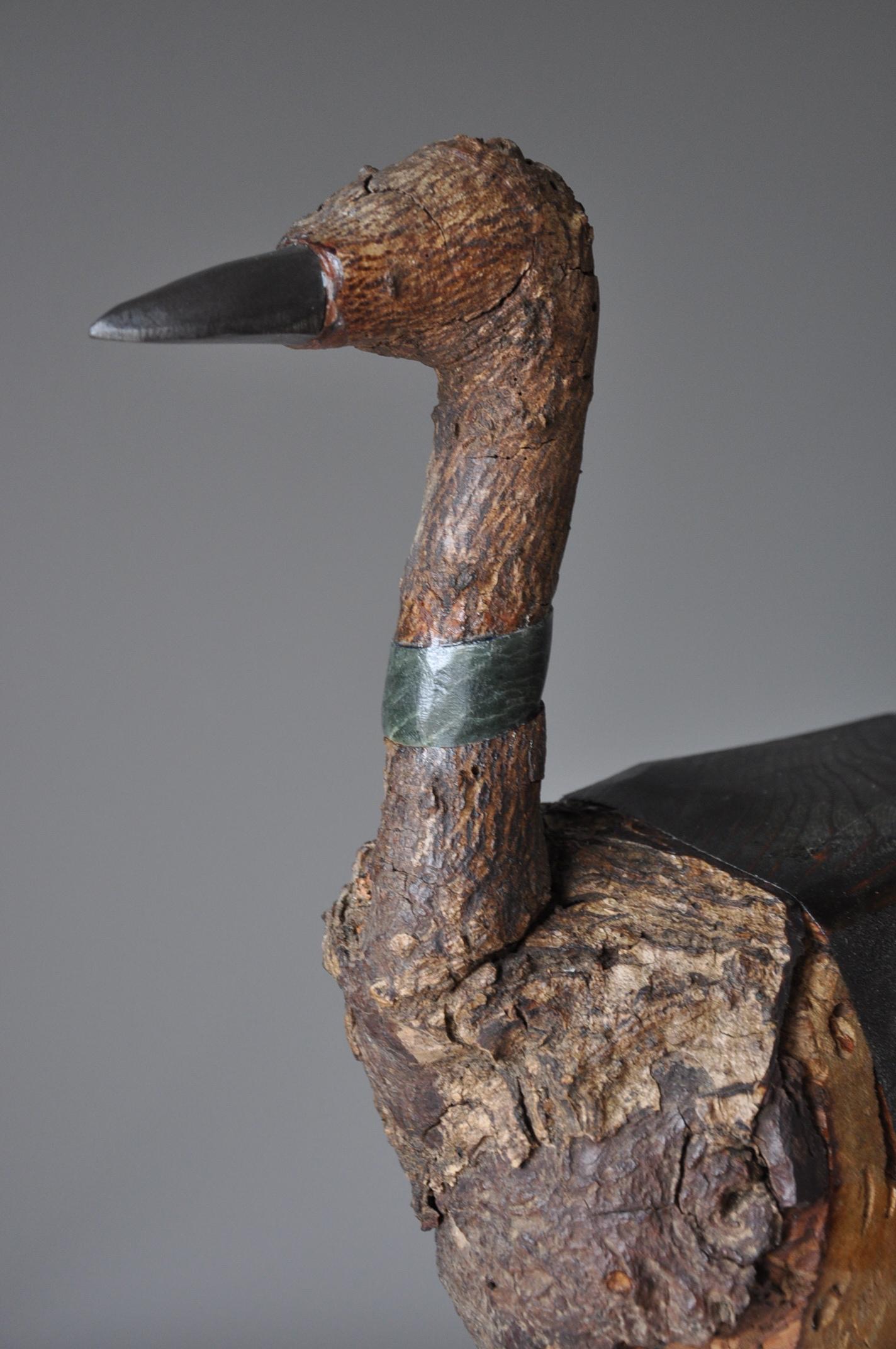 """Moorehen"", 36"" x 20"" x 20"" , Wood, Stone, Steel, Ferro Cement"