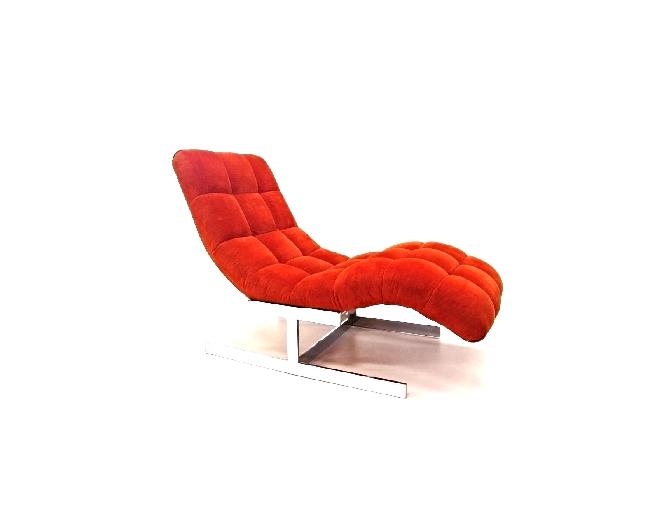 Vintage Milo Baughman Wave Chaise