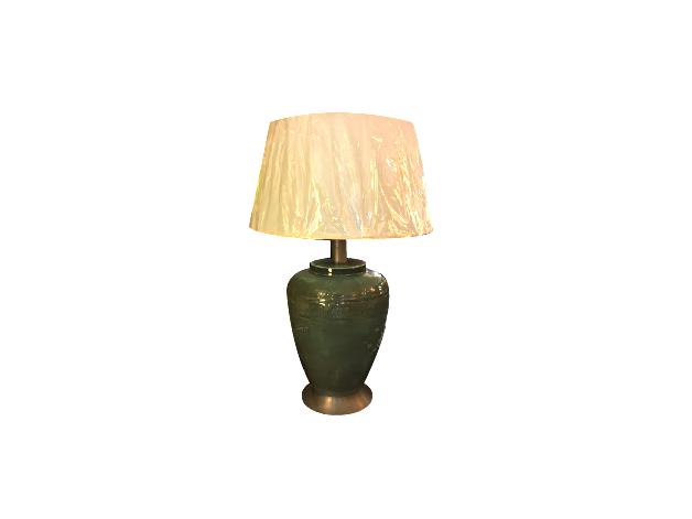 Vintage Asian Motif Ceramic Lamp