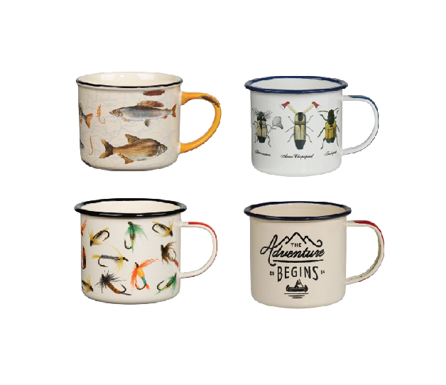 Great Outdoor Themed Enamel Mugs