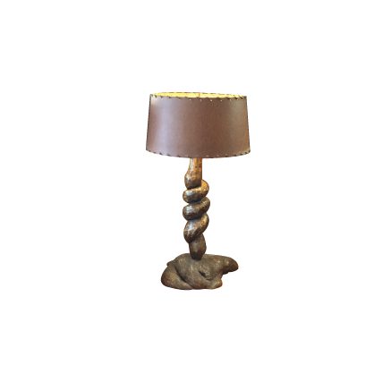 Wysteria Root Lamp w/ Vintage Shade