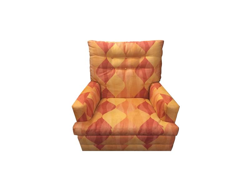 Vintage High Back Swivel Chair