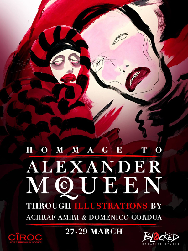 HOMMAGE TO ALEXANDER MCQUEEN THROUGH ILLUSTRATIONS  27.03.2015 - 29.03.2015