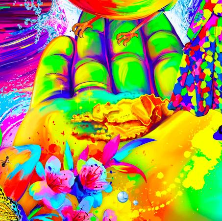 Пальчики. - Каждый палец и ладонь также должны состоять из 7 цветов. То, что на ладони должно быть также нарисовано в 7 цветах.