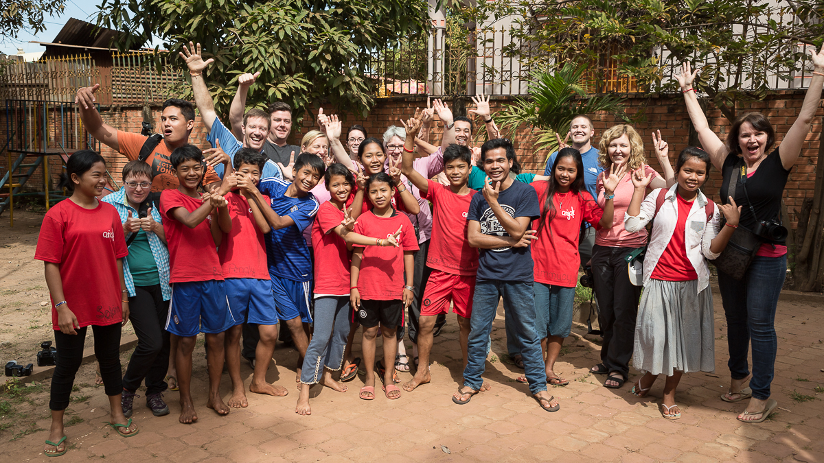 2014 The Giving Lens: Cambodia Team on our final day with the students of Anjali House!