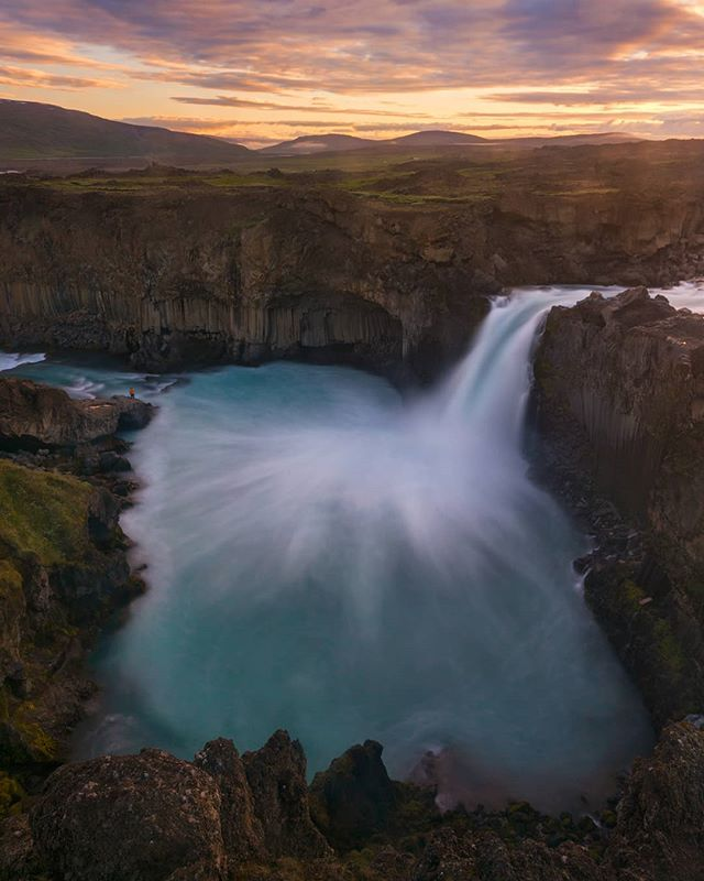 Just a waterfall, down a long road in the north of #Iceland.  Even during the busiest months here, you can still find places where you will be alone with nature, and maybe a few friends.