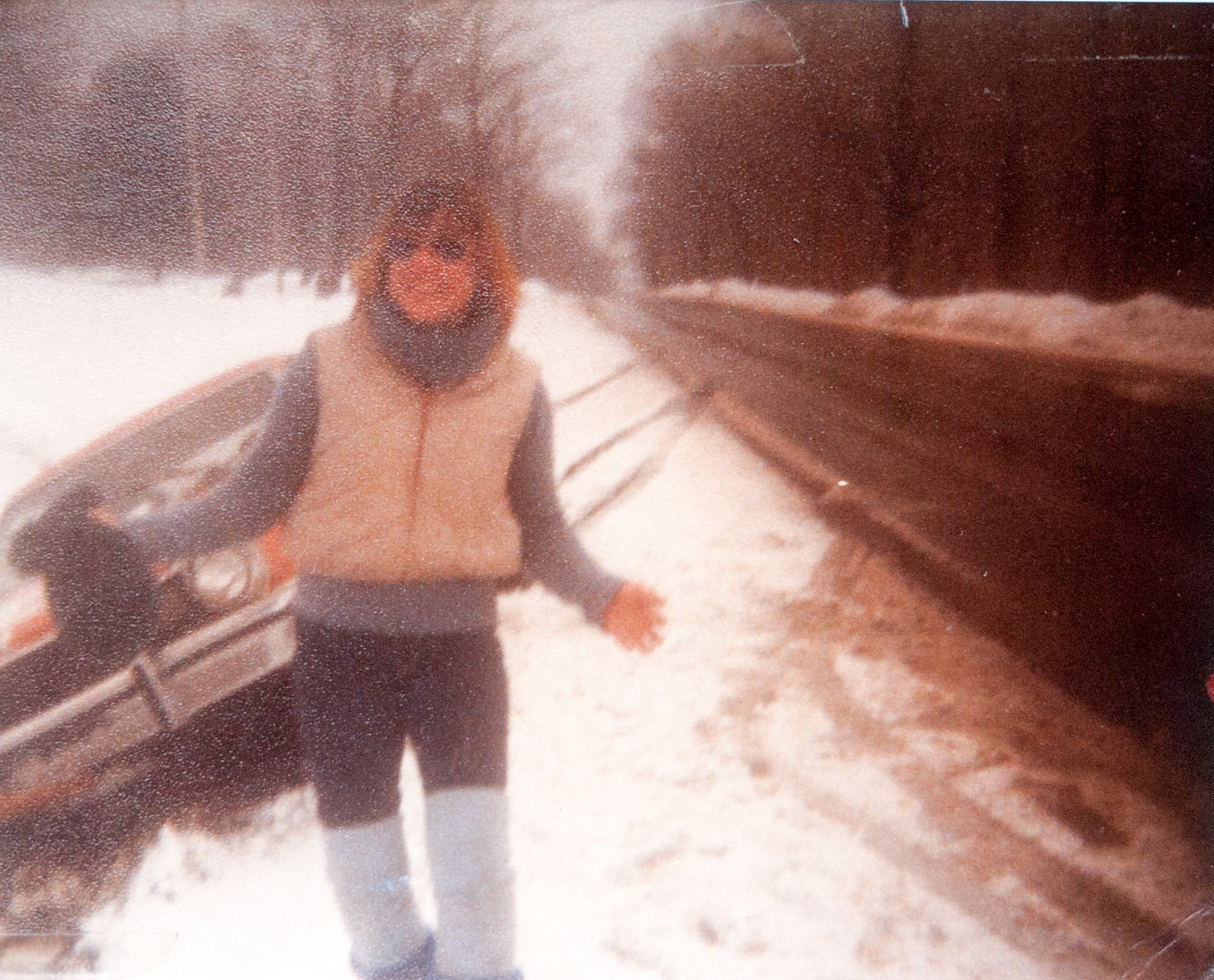 My first breaking news photo, Mom in a ditch,  1983
