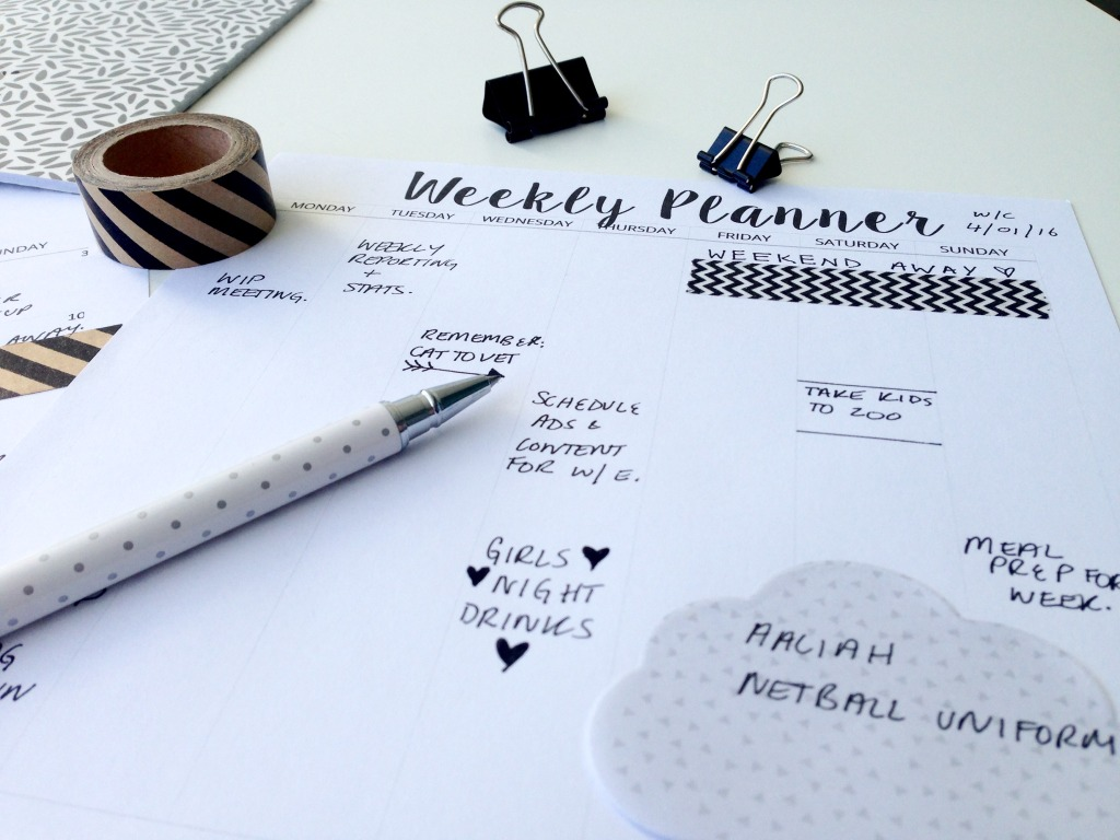 Another FREE printable set with a weekly planner too!