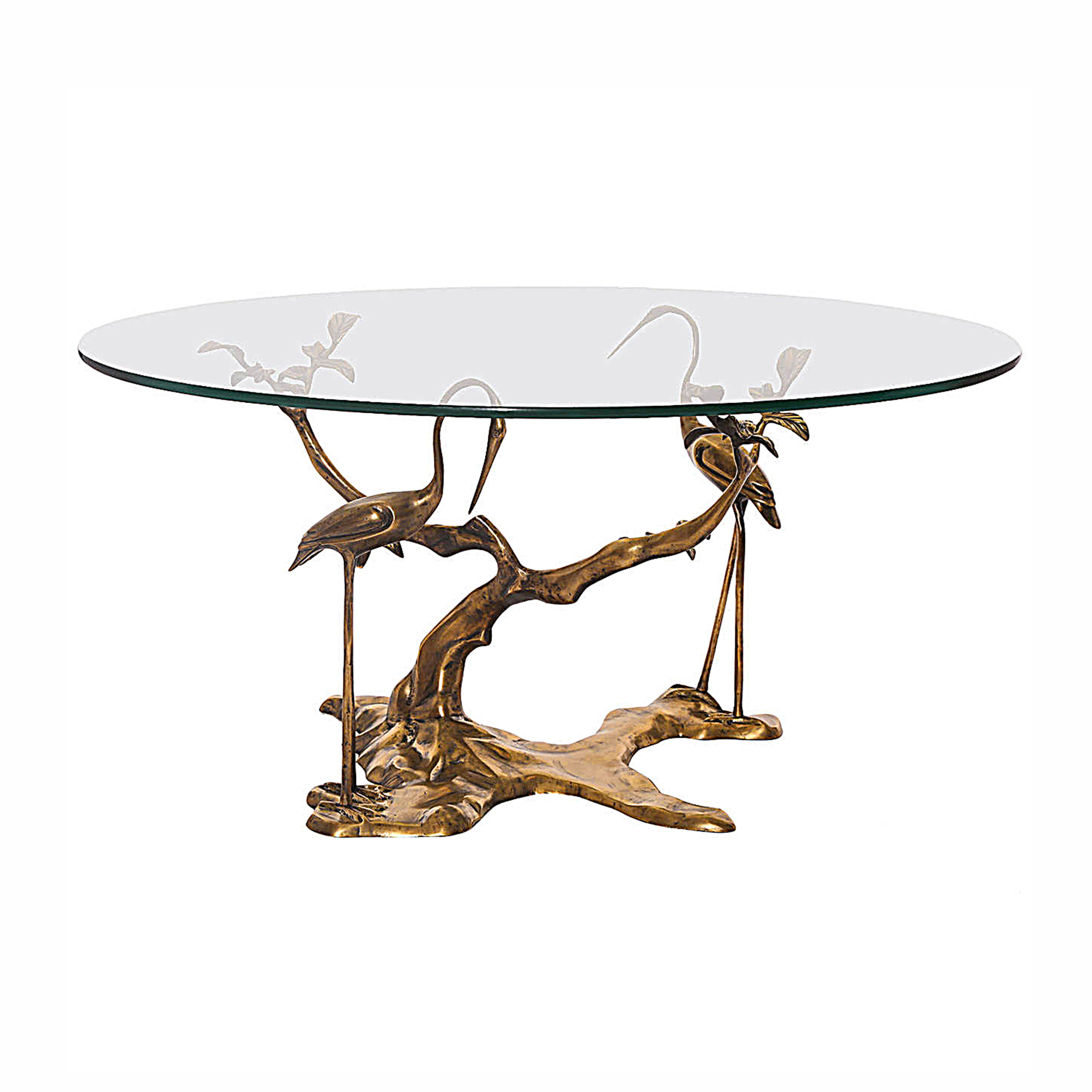 Willy Daro Brass Cranes Coffee Table