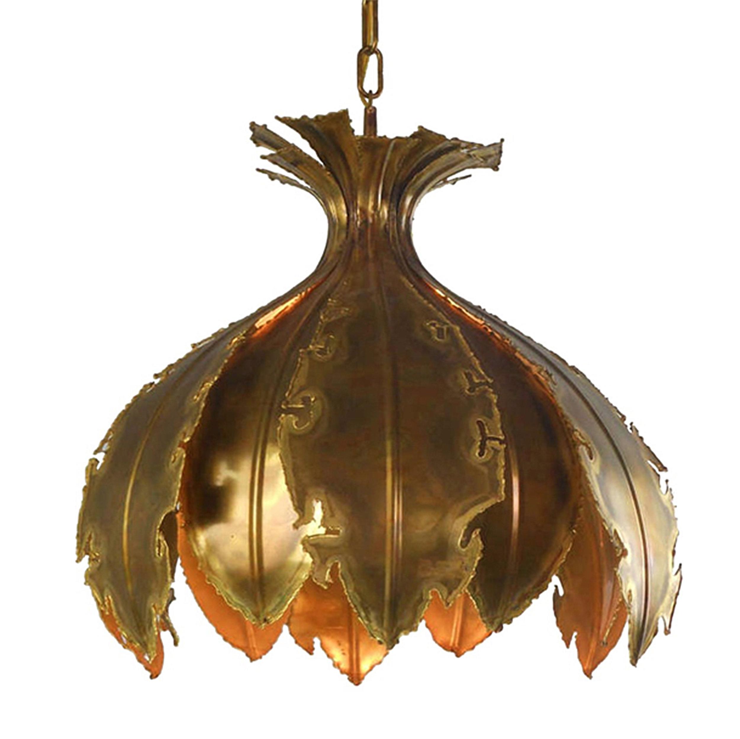 Sven Aage Brutalist Hanging Lamp for Holm Sorensen & Co