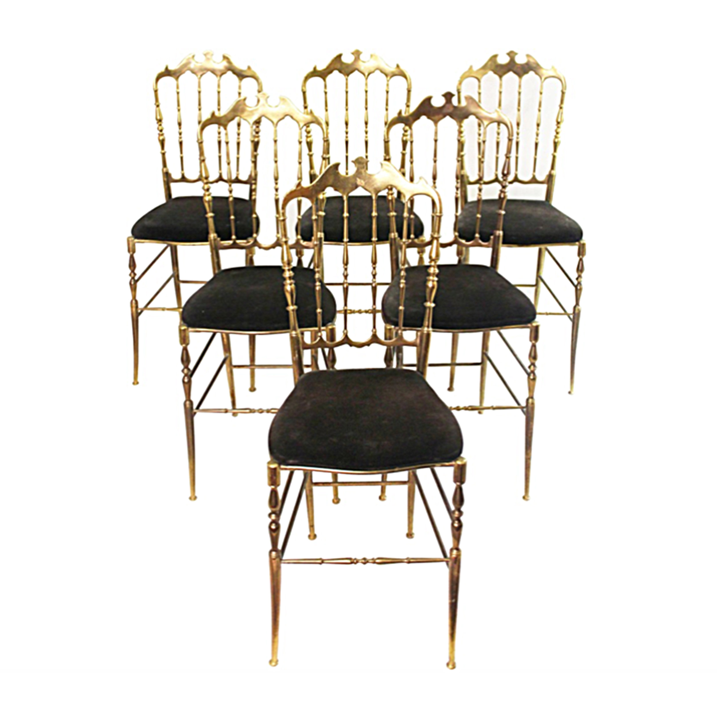 Complete Set of Chiavari Brass Chairs