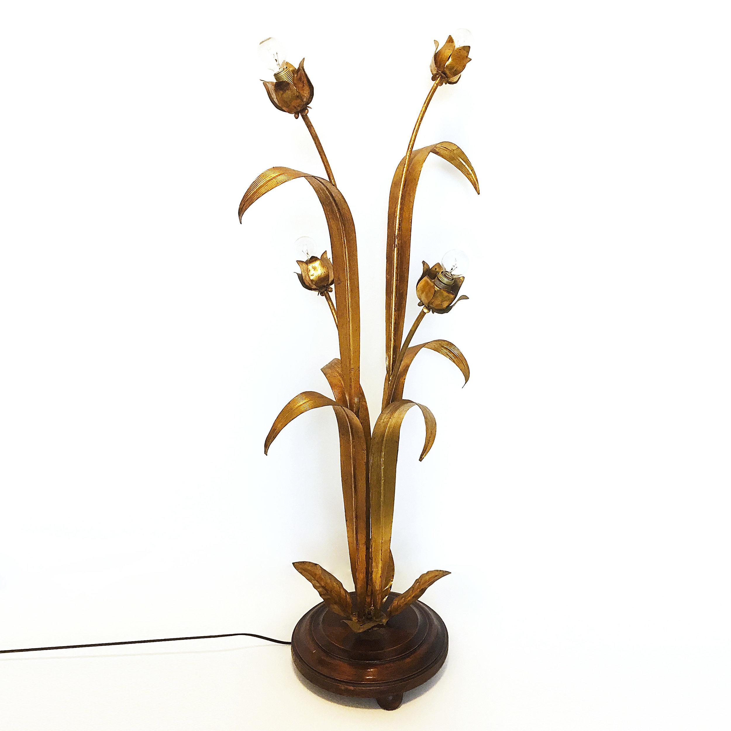 Gilded Flower Leaf Floor Lamp