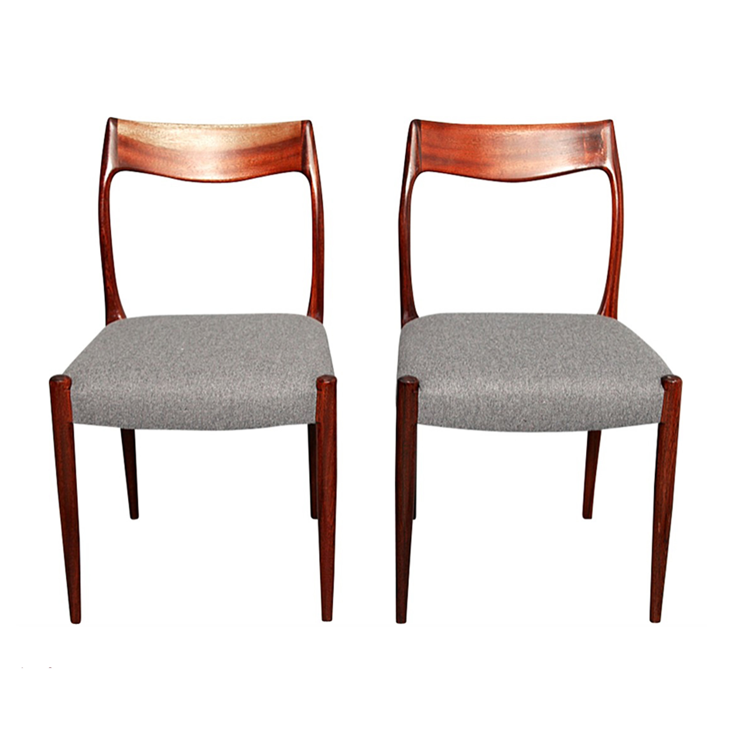 Pair of Unique Rosewood Niels O. Moller Chairs