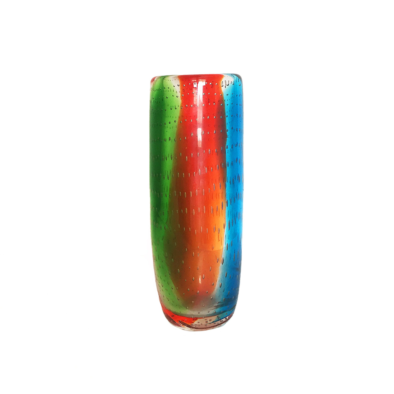 Murano Glass Bullicante Vase