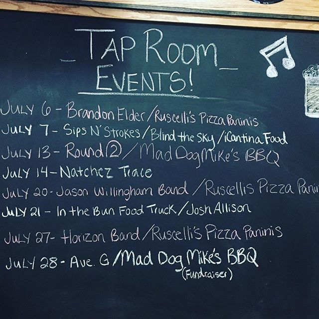 Exciting weekend ahead with great live music and excellent food! • • • • • • • • #weekendevents #whatsgoingon #taproom #livemusic #greatfood #cullmanalabama #cullman #localbusiness #localbrewery #drinkbeer #drinkbeermadehere