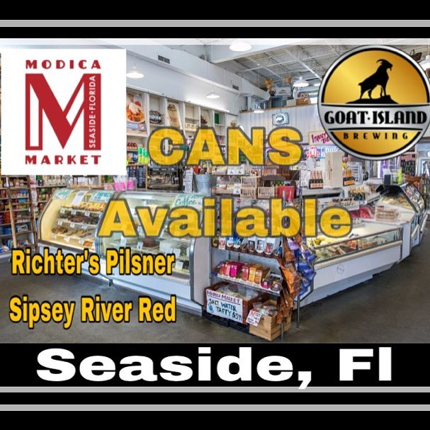 We are proud to announce that our Gold Medal winning beers are available in Seaside, Fl at Modica Market! #nobaaaadbeer #seaside #whitesandcoldbeer #drinkcraft #sipseyrivertakemymind
