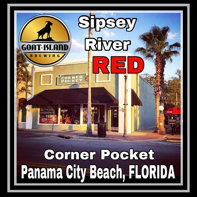 The Award 🥇 Winning Sipsey River Red is on tap at The Corner Pocket in PCB! #nobaaaadbeer #sipseyrivertakemymind #whitesandcoldbeer #PCB #drinklocal
