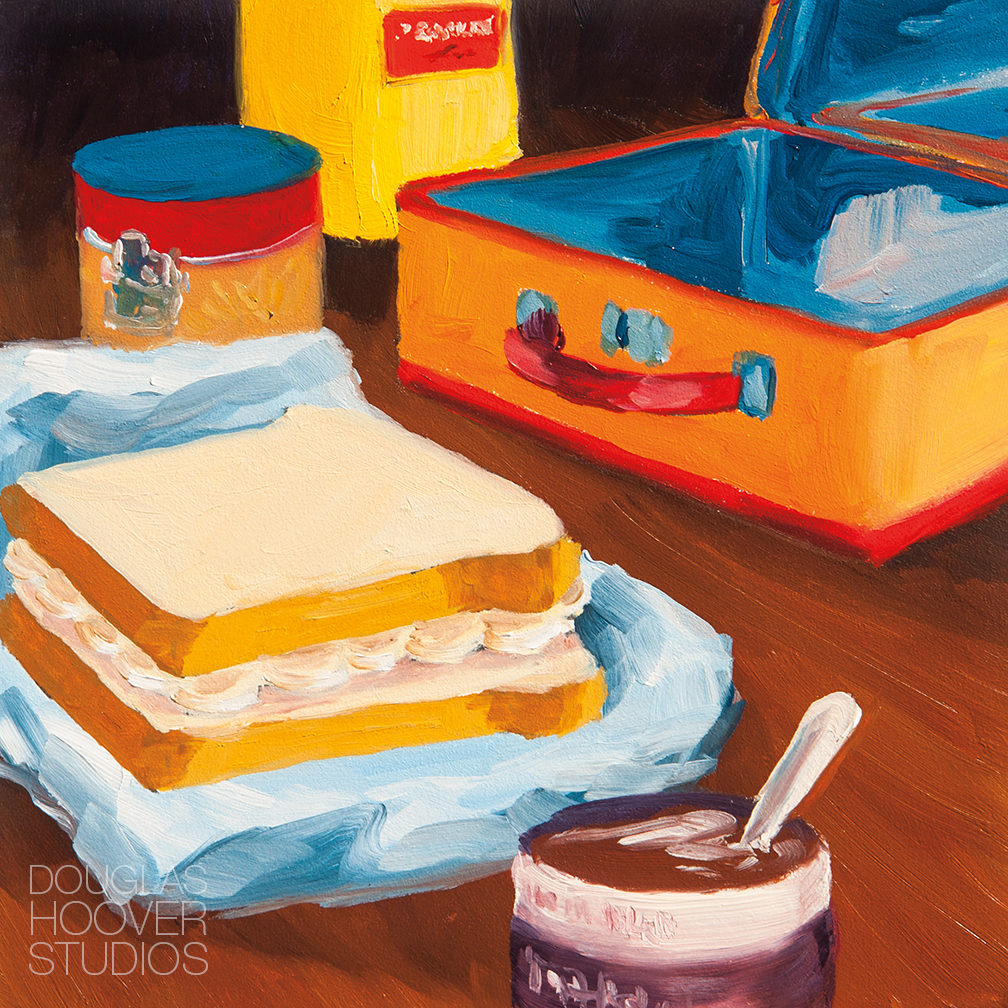 It Was A Good Lunch | 6x6in. - $250