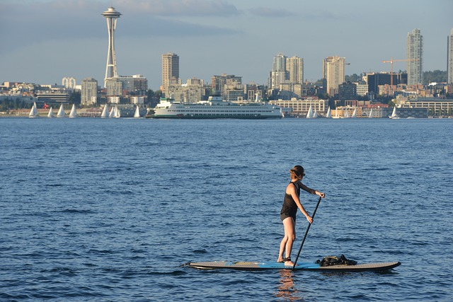 paddle board woman