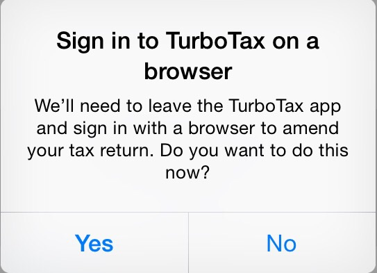 No - I most certainly do not want to leave the app and go to your crappy browser, but since I need to file my taxes you've got me by the short hairs.