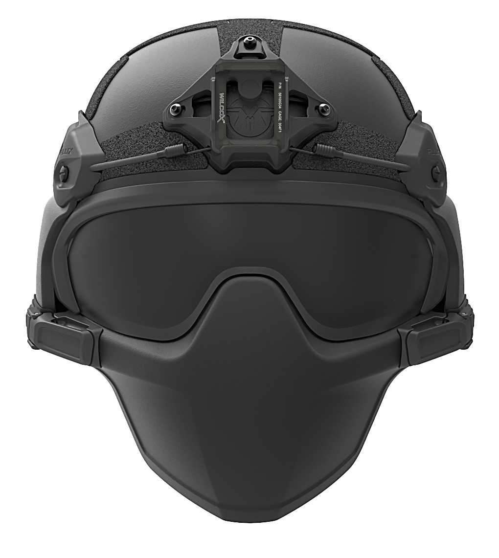 FLUX Ballistic helmet mandible protection