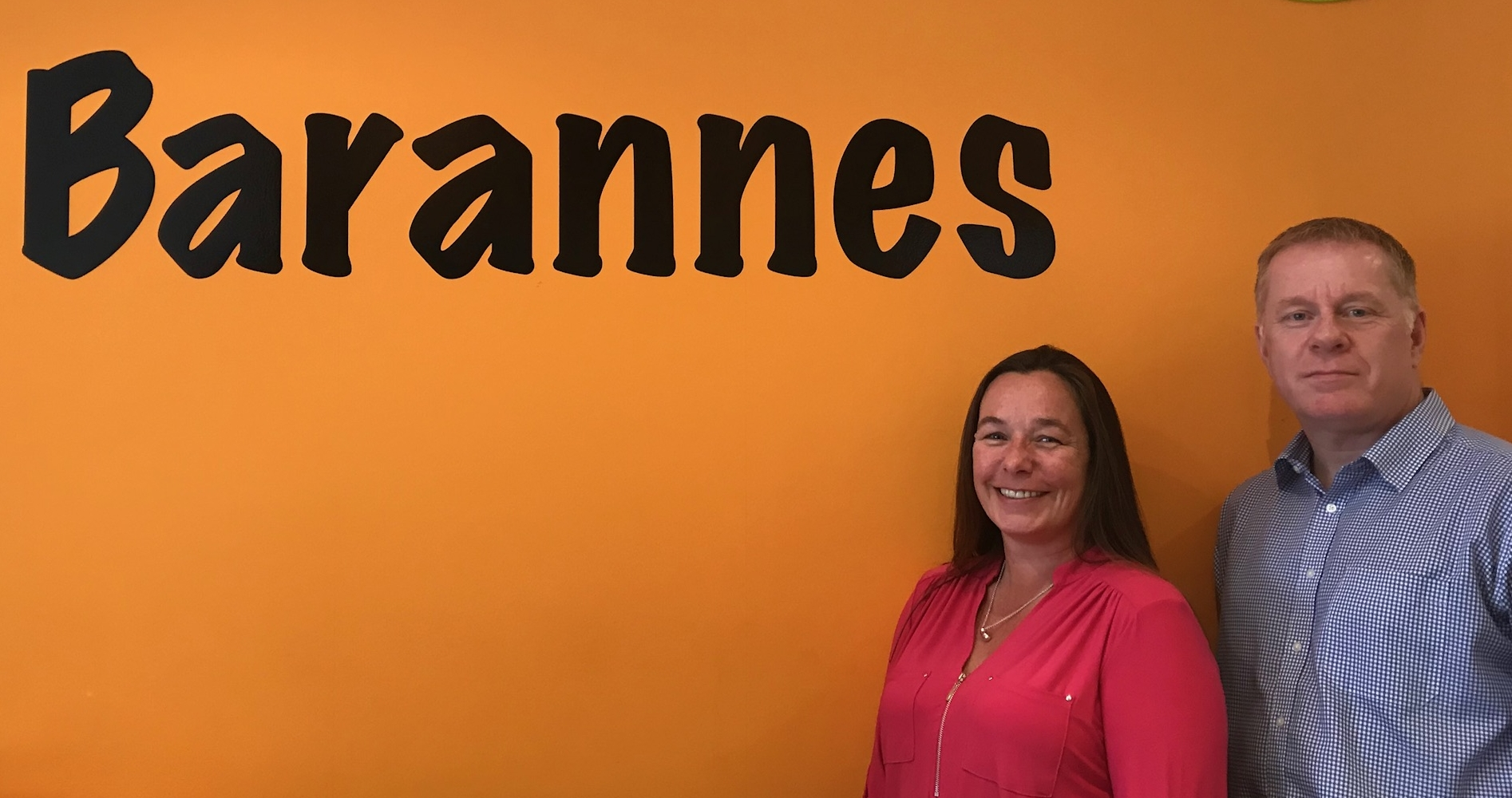 Paula and Ian, co-owners of Barannes