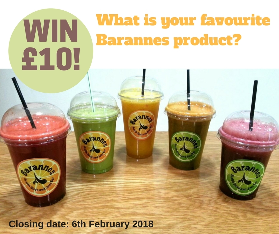 LIke and comment on our Facebook post to get the chance of winning a £10 Barannes voucher