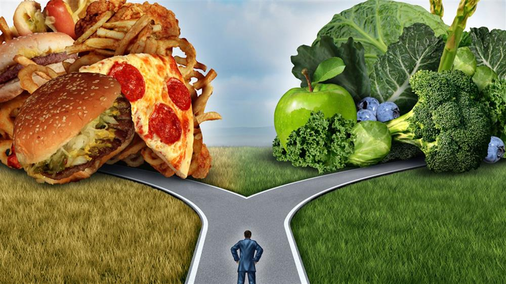 Unhealthy or healthy? Which route will you take?