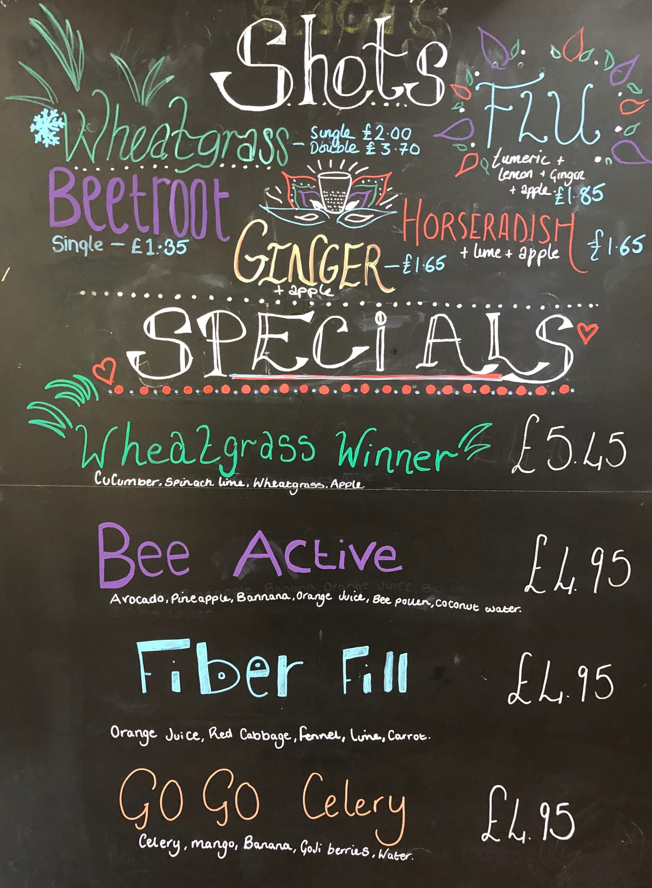 Colomberie Juice Bar Specials