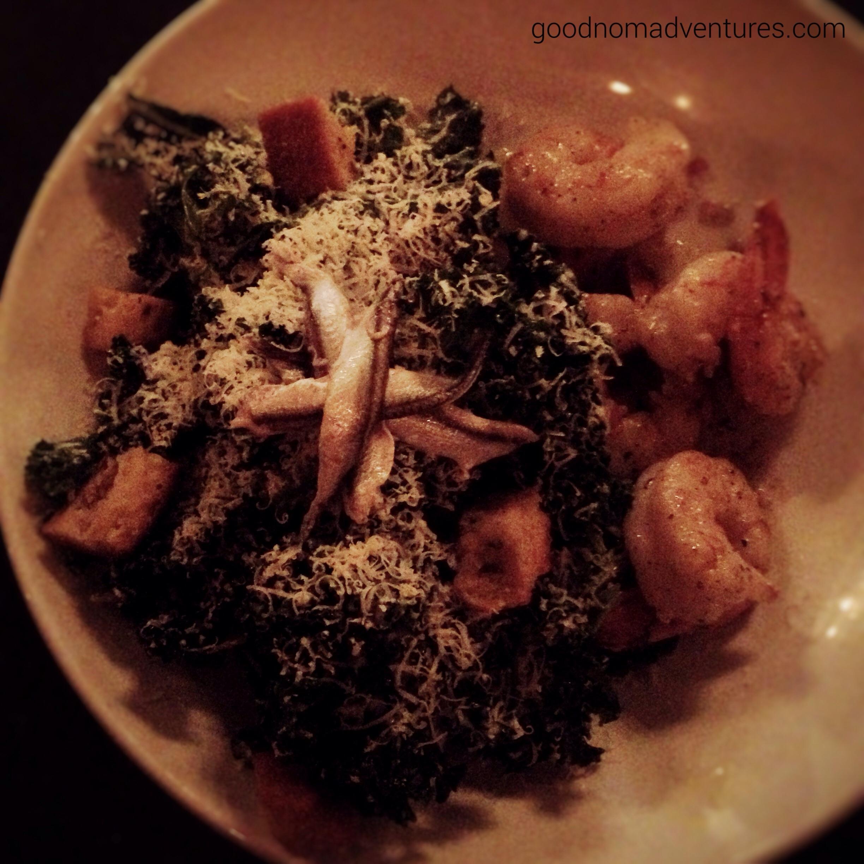 Kale Caesar with Shrimp