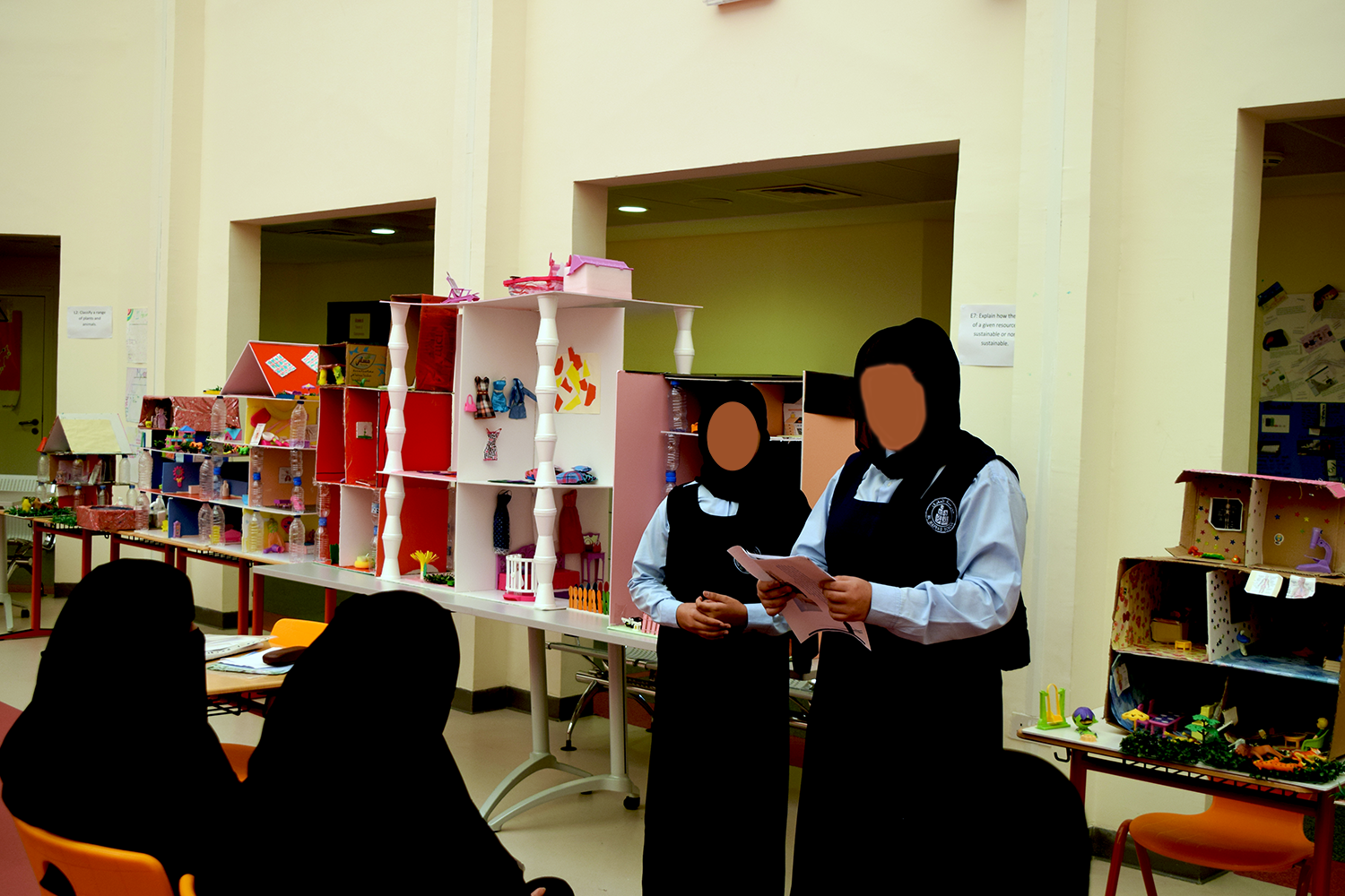 Presentation on sustainability by grade 6 students at a school in Abu Dhabi