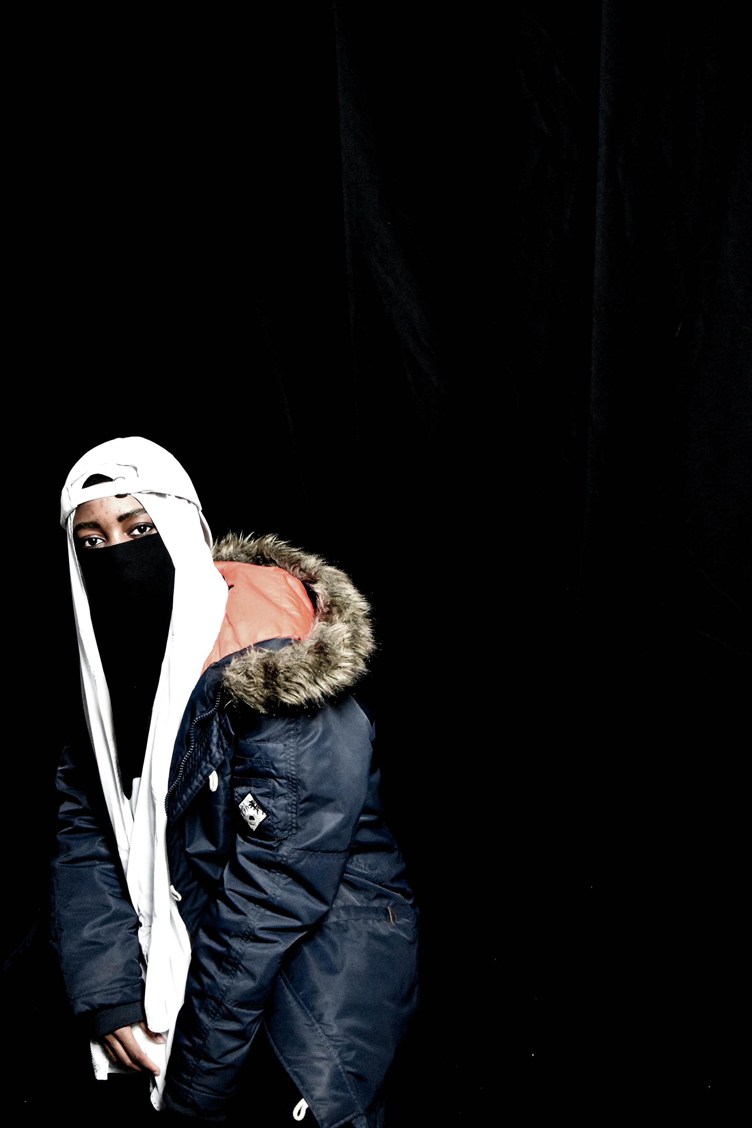 Baseball cap and Niqab